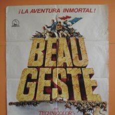 Cine: CARTEL, POSTER CINE - BEAU GESTE - GUY STOCKWELL - AÑO 1966 - ENVIO GRATIS .. R-4453. Lote 73162251