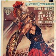 Cine: EL GLADIADOR INVENCIBLE. CARTEL ORIGINAL DE 1961. 100X70. Lote 73168007