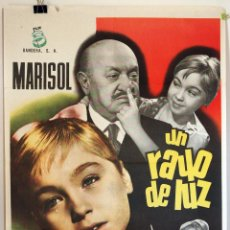 Cine: UN RAYO DE LUZ. MARISOL. CARTEL ORIGINAL 1971/72. 100X70. Lote 73175315