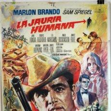 Cine: LA JAURÍA HUMANA. MARLON BRANDO. CARTEL ORIGINAL 1966. 100X70. Lote 73178087