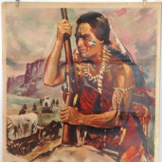Cine: EL SALVAJE. CHARLTON HESTON. CARTEL ORIGINAL 1964. 100X70. Lote 73215011