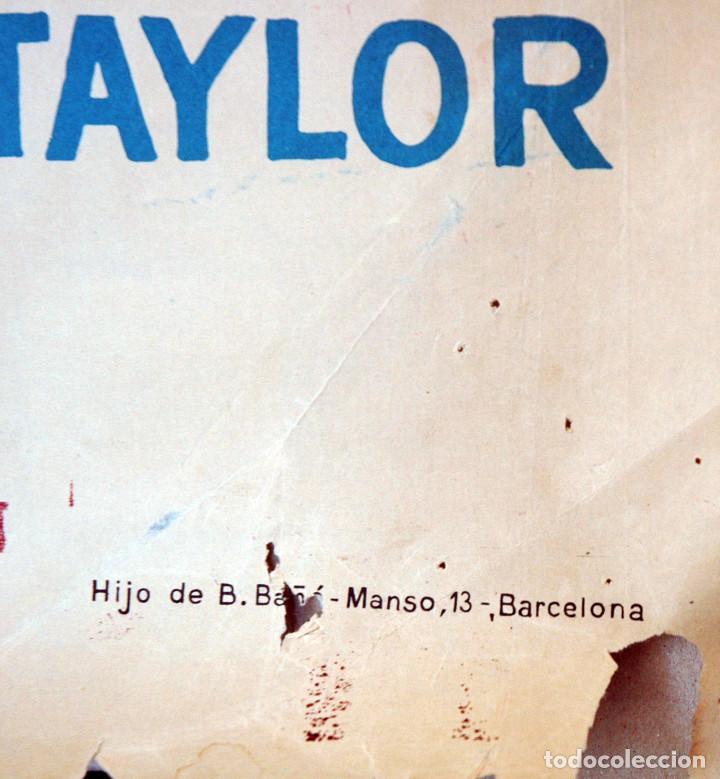 Cine: EL SALVAJE. CHARLTON HESTON. Cartel original 1964. 100x70 - Foto 4 - 73215011