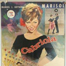 Cine: CABRIOLA. MARISOL-MEL FERRER. CARTEL ORIGINAL. 100X70. Lote 73292599