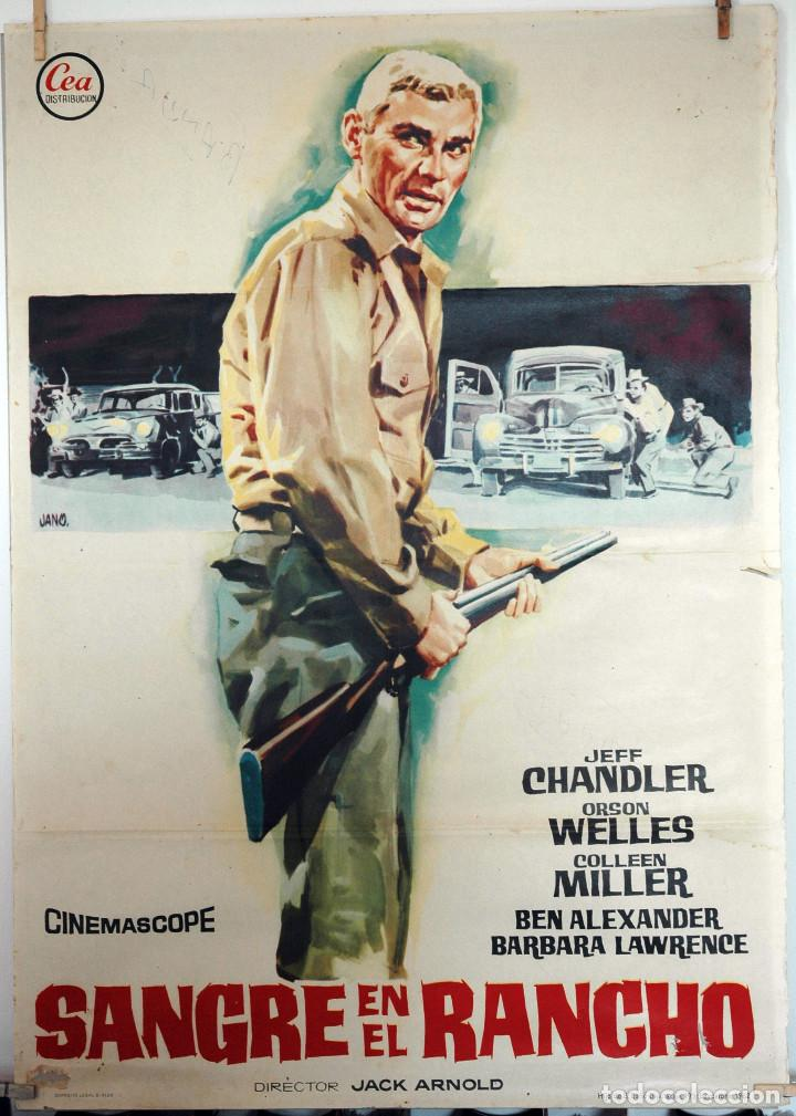 SANGRE EN EL RANCHO. JEFF CHANDLER-ORSON WELLES. CARTEL ORIGINAL 1962. 100X70 (Cine - Posters y Carteles - Westerns)