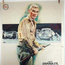 Cine: SANGRE EN EL RANCHO. JEFF CHANDLER-ORSON WELLES. CARTEL ORIGINAL 1962. 100X70. Lote 73294859