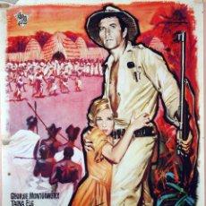 Cine: REGRESO A LAS MINAS DEL REY SALOMÓN. CARTEL ORIGINAL 1962. 100X70. Lote 73297323
