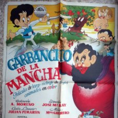 Cine: CARTEL CINE , GARBANCITO DE LA MANCHA , LITOGRAFIA , ORIGINAL. Lote 73330987