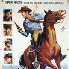 Cine: EL SHERIFF IMPLACABLE. SOLIGÓ. CARTEL ORIGINAL DE 1964. 100X70. Lote 73409075