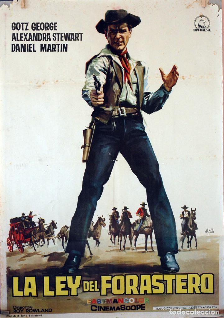 LA LEY DEL FORASTERO. CARTEL ORIGINAL DE 1965. 100X70 (Cine - Posters y Carteles - Westerns)