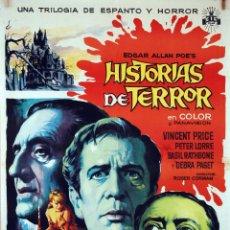 Cine: HISTORIAS DE TERROR. VINCENT PRICE-PETER LORRE. CARTEL ORIGINAL DE SOLIGÓ. 70X100. Lote 73411983