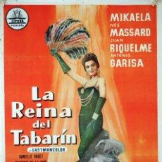 Cine: LA REINA DEL TABARÍN. CARTEL ORIGINAL DE 1960. 70X100. Lote 73412531