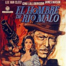 Cine: EL HOMBRE DE RÍO MALO. LEE VAN CLEEF-GINA LOLLOBRIGIDA. CARTEL ORIGINAL DE 1972. 70X100. Lote 73413235