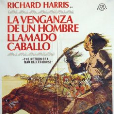 Cine: LA VENGANZA DE UN HOMBRE LLAMADO CABALLO. RICHARD HARRIS. CARTEL ORIGINAL DE 1976. 70X100. Lote 73414183