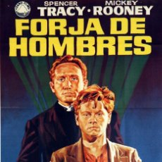 Cine: FORJA DE HOMBRES. SPENCER TRACY-MICKEY ROONEY. CARTEL ORIGINAL DE 1972. 70X100. Lote 73434291