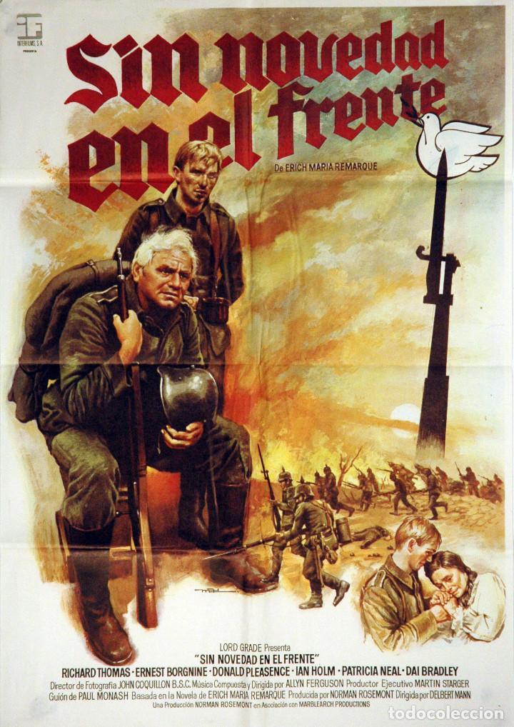 SIN NOVEDAD EN EL FRENTE. ERNEST BORGNINE-DONALD PLEASENCE. CARTEL ORIGINAL 70X100 (Cine - Posters y Carteles - Bélicas)