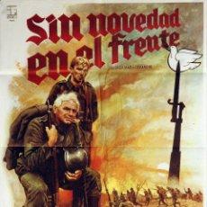 Cine: SIN NOVEDAD EN EL FRENTE. ERNEST BORGNINE-DONALD PLEASENCE. CARTEL ORIGINAL 70X100. Lote 73434583