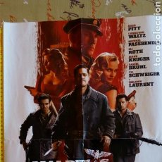 Cine: POSTER DOBLE PELÍCULA: MALDITOS BASTARDOS (QUENTIN TARANTINO) Y DISTRICT 9 (PETER JACKSON). 57X41 CM. Lote 73452131