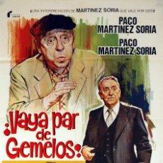 Cine: VAYA PAR DE GEMELOS. PACO MARTÍNEZ SORIA. CARTEL ORIGINAL 1977. 70X100. Lote 73525751