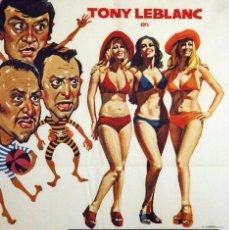Cine: TRES SUECAS PARA TRES RODRÍGUEZ. TONY LEBLANC-ANTONIO OZOREZ. CARTEL ORIGINAL 1975. 70X100. Lote 73529483