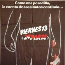 Cine: VIERNES 13 2ª PARTE. CARTEL ORIGINAL 1981. 70X100. Lote 73532419