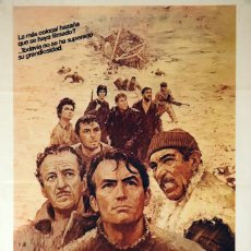 Cine: LOS CAÑONES DE NAVARONE. GREGORY PECK-DAVID NIVEN-ANTHONNY QUINN. CARTEL ORIGINAL 1982. Lote 73533079