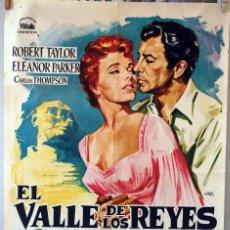 Cine: EL VALLE DE LOS REYES. ROBERT TAYLOR-ELEANOR PARKER. CARTEL ORIGINAL 1964. 100X70. Lote 73564143