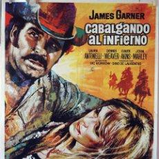 Cine: CABALGANDO AL INFIERNO. JAMES GARNER. CARTEL ORIGINAL 1971. 100X70. Lote 73569983