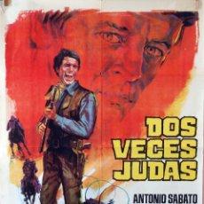 Cine: DOS VECES JUDAS. KLAUS KINSKI. CARTEL ORIGINAL 1969. 100X70. Lote 73574287