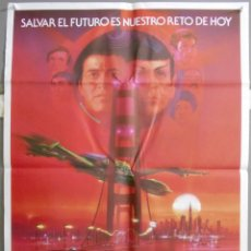 Cine: XK49 STAR TREK 4 MISION SALVAR LA TIERRA WILLIAM SHATNER LEONARD NIMOY POSTER ORIG 70X100 ESTRENO. Lote 96806514