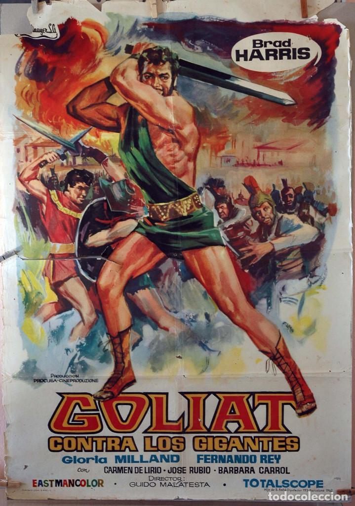 GOLIAT CONTRA LOS GIGANTES. CARTEL ORIGINAL 1962. 100X70 (Cine - Posters y Carteles - Bélicas)