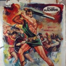 Cine: GOLIAT CONTRA LOS GIGANTES. CARTEL ORIGINAL 1962. 100X70. Lote 73691235