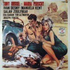 Cine: LA ESFINGE SONRIE ANTES DE MORIR. CARTEL ORIGINAL 1965. 100X70. Lote 73692211