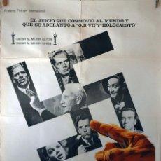 Cine: EL JUICIO DE NUREMBERG. SPENCER TRACY-STANLEY KRAMER. CARTEL ORIGINAL 1979. 100X70. Lote 73697275
