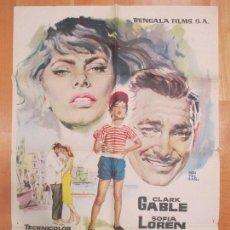 Cine: CARTEL CINE, CAPRI, BAHIA DE NAPOLES, CLARK GABLE, SOFIA LOREN, MONTALBAN, 1961, C1006. Lote 73701099