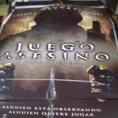 Cine: PÓSTER ORIGINAL DE 100X70CM JUEGO ASESINO. Lote 73725399