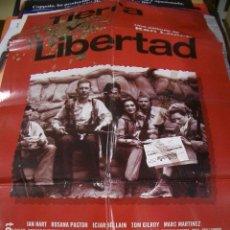 Cinema: PÓSTER ORIGINAL DE 100X70CM TIERRA Y LIBERTAD. Lote 74111811
