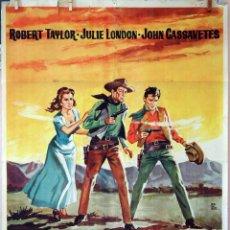 Cine: MÁS RÁPIDO QUE EL VIENTO. ROBERT TAYLOR-JOHN CASSAVETES. CARTEL ORIGINAL 1961. 70X100. Lote 74160595
