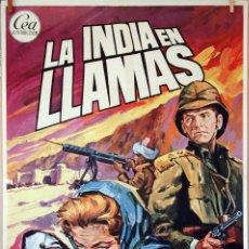 Cinema - LA INDIA EN LLAMAS. LAUREN BACALL. CARTEL ORIGINAL 1975. 100X70 - 74177723