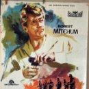 Cine: TRAICIÓN EN ATENAS. ROBERT MITCHUM-ROBERT ALDRICH. CARTEL ORIGINAL 1962. 100X70. Lote 74179387
