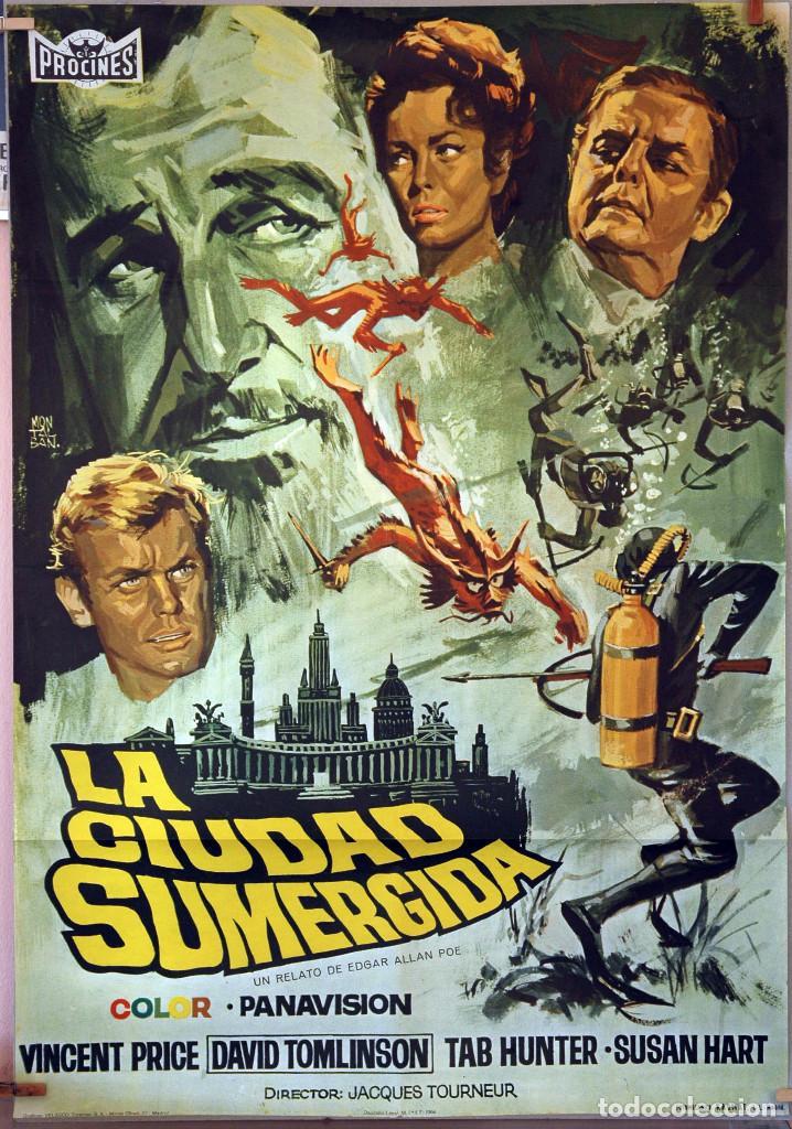 LA CIUDAD SUMERGIDA. VINCENT PRICE. CARTEL ORIGINAL 1966. 100X70 (Cine - Posters y Carteles - Aventura)