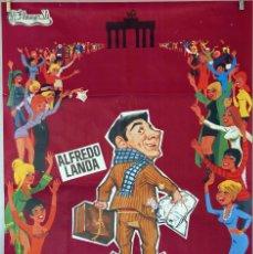 Cine: ¡VENTE A ALEMANIA, PEPE!. ALFREDO LANDA. CARTEL ORIGINAL 1970. 100X70. Lote 74185391