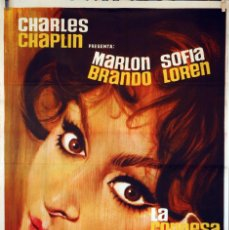 Cine: LA CONDESA DE HONG KONG. SOFIA LOREN-MARLON BRANDO-CHARLES CHAPLIN. CARTEL ORIGINAL 1967. 70X100. Lote 74186619