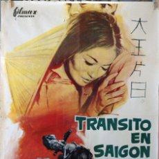 Cine: TRÁNSITO EN SAIGÓN. JEAN LEDUC. CARTEL ORIGINAL 1963. 100X70. Lote 74217291