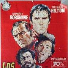 Cine: LOS DESESPERADOS. ERNEST BORGNINE. CARTEL ORIGINAL 1969. 100X70. Lote 74217391