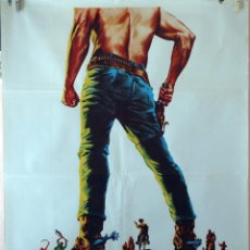 Cine: ¡AL INFIERNO GRINGO! TELLY SAVALAS. CARTEL ORIGINAL 1973. 100X70. Lote 74217439