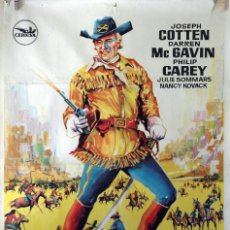 Cine: LA GRAN MATANZA SIOUX. JOSEPH COTTEN. CARTEL ORIGINAL 1965. 100X70. Lote 74217679
