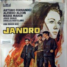 Cine: JANDRO. ARTURO FERNÁNDEZ. CARTEL ORIGINAL 1964. 100X70. Lote 74217823