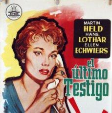 Cine: EL ÚLTIMO TESTIGO. CARTEL ORIGINAL 1963. 100X70CM. Lote 74217991