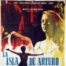 Cine: LA ISLA DE ARTURO. CARTEL ORIGINAL 1962. 70X100. Lote 74268655