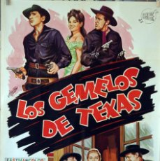 Cine: LOS GEMELOS DE TEXAS. DIRECTOR STENO. CARTEL ORIGINAL 1965. 70X100. Lote 74269035